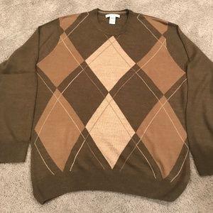 Geoffrey Beene Men's Argyle Sweater, Sz. XL